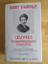 La Pléiade Barbey D'Aurevilly of Works Complete Nonfiction Tome I 1964
