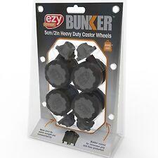 Ezy Storage BUNKER CASTOR WHEELS 4Pcs Heavy Duty, 360 Degree Swivel *Aust Brand