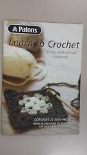 Patons Pattern Book #1257 Learn To Crochet Guidebook with 20 Easy Projects