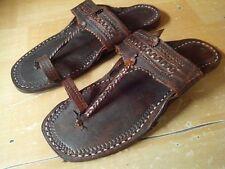 vintage look MEN US 8,9 ,10 ,11 handmade leather sandal shoes buffalo leather