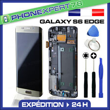 VITRE TACTILE + ECRAN LCD ORIGINAL SAMSUNG GALAXY S6 EDGE OR GOLD + OUTILS