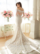 Sophia Tolli Lace off the shoulder RIONA  3/4 sleeve mermaid dres  100% ORIGINAL