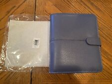 Franklin Covey Anna Sailor Blue Leather Binder New Discontinued Model Compact