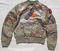 ALPHA INDUSTRIES MA-1 Flight Jacket Bomber Reversible Chocolate Chip Digi Camo