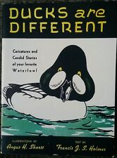 Ducks Are Different 1949 Shortt Vintage Wildlife Bird Book Out Of Print Rare!