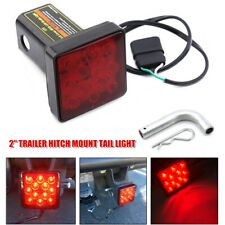 "2"" Trailer Hitch Mount Tail Light Brake Light Fog Lamp 12LED Tow Bar Lamp w/Pin"