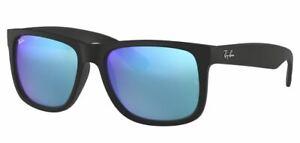 Ray-Ban Damen Herren Sonnenbrille RB4165 622/55 54mm Justin verspiegelt