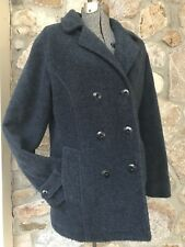 L.L. Bean DUSK BLUE Wool Blend Double Breasted Peacoat Thinsulate Women's Sz S