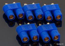 5 Pack: EC3 Female / 3.5MM Bullet Connectors Pre-Installed in Plastic Housing