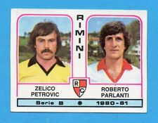 PANINI CALCIATORI 1980/81 - Figurina n.473- PETROVIC+PARLANTI-RIMINI -NEW