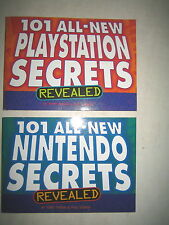 2 COLLECTABLE BOOKS, 101 NINTENDO & 101 PLAYSTATION SECRETS REVEALED ,SOLD AS IS