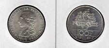 FRANCE 100 F argent LA FAYETTE  1987  superbe