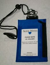 NEW NURSE MATES SECURITY BADGE/ ID/ PHONE HOLDER/WALLET BLUE SOFT SHOES