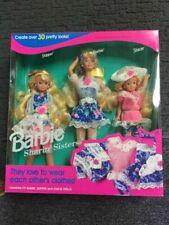 VINTAGE   Barbie sisters  dolls Barbie Stacie Kelly 1990s almost MINT! NEW
