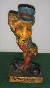 Rare Jiminy Cricket Syrocco Syroco figure 1940's very nice near mint