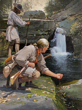 """""""Secluded Pool"""" John Buxton Early America Smallwork Giclee Canvas"""