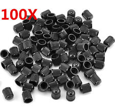 100 X Black Plastic Auto Car Bike Motorcycle Truck wheel Tire Valve Stem Caps