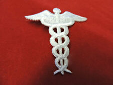 EMBROIDERED IRON ON NURSE CADUCEUS APPLIQUE 3470-E