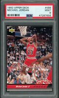 Michael Jordan 1992 Upper Deck Basketball Card #488 Graded PSA 9 MINT