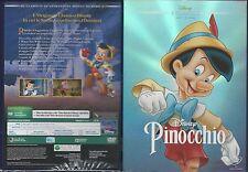 DVD PINOCCHIO DISNEY ED.REPACK 2015 CON SLIP COVER NUOVO SIGILLATO