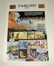 ORIG 1981 THE SPIRIT - THE INVADER - WILL EISNER - TABLOID PRESS COLOR 16.5 X 11