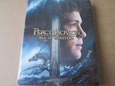 PERCY JACKSON SEA OF MONSTERS    (BLU RAY 3D STEELBOOK) VERY RARE STILL SEALED
