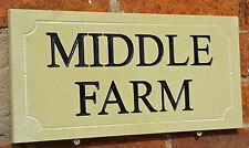 Natural cotswold stone house sign with painted letters,  400mm x 200mm