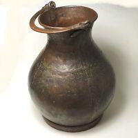 Antiker großer Wassertrog Gefäß Kupfer ca. 40 x 38 cm ungereinigt