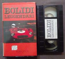 VHS Automobilismo BOLIDI LEGGENDARI videobox ferrari porsche ex nolo no dvd(VH63
