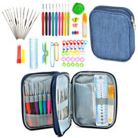 72x Crochet Hooks Kit Knitting Accessories Needles Stitch Markers Tools Set DIY