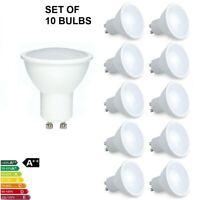 10 x 5W GU10 LED Energy Saving Light Bulbs Spotlight Lamps Warm Cool White NEW