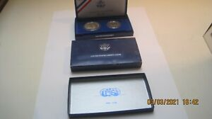 1986 S US Liberty Two Coin Silver Proof Set with Box - US Coins