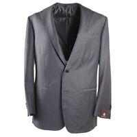 NWT $3600 DOMENICO VACCA Solid Gray Superfine Wool Sport Coat 42 R (Eu 52)