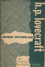 Some Notes on H.P. Lovecraft by August Derleth from Arkham House (1959)