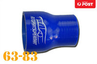 """4 Ply Silicone Straight Reducer Joiner Hose Pipe 63mm - 83mm 2.5"""" 3.25"""" 2-1/2"""""""