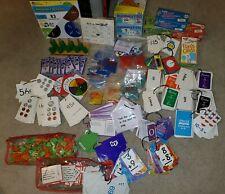 Lot Of Educational Learning Math Money Reading Flashcards