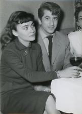 Danièle Delorme et Daniel Gélin  Vintage silver print Tirage argentique  13x