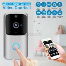 1080P HD Wireless Wifi Smart Doorbell Camera  PIR Bell Security Home + Chime UK