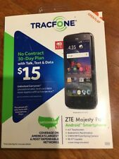 Smartphone Android Tracfone SEALED ZTE Majesty Pro No Contract 4G LTE 30Day Plan