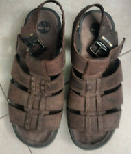 Men's Timberland fisherman sandals brown buckle 10M