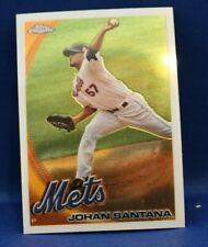 2010 (Mets) Topps Chrome Johan Santana Baseball card #120