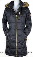 Michael Kors Hooded Faux Fur-Trim Down Parka Puffer Coat Medium Black