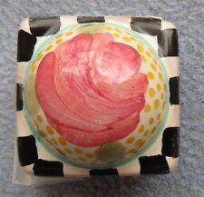 Mackenzie Childs Petit Four Rose Petal Drawer Pull Knob New
