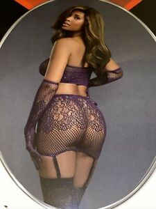 dreamgirl lingerie plus size Eggplant Style 11507
