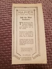 Napier Six Cylinder Motor Carriages - 1921 Advertisement