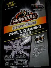 Armor All Ultra Shine Wheel Cleaning Wipes Remove Tough Brake Dust Soil 16 Count