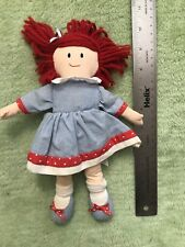 "Eden Toys 9"" Mini Madeline Doll Plush with Red Yarn Hair 2000"