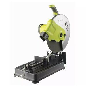 2300W RYOBI 355mm Abrasive Metal Steel Cut Off Drop Chop Saw 4yr Replace Wty