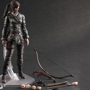 Play Arts Kai Rise of The Tomb Raider Lara Croft Action Figure Kid Toy Doll Gift