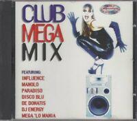 Club Megamix CD, Influence, Manolo, Paradiso, Disco Blu, De Donatis, DJ Engergy,